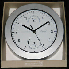 New Equity Indoor/Outdoor Weather Station Wall Clock Thermometer Humidity