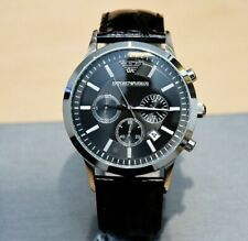 NEW GENUINE EMPORIO ARMANI MENS AR2447 WATCH BLUE DIAL STAINLESS STEEL £259 RRP