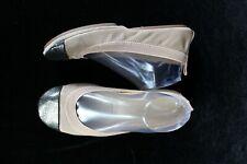Yosi Samra Foldable Ballet Flat Size 7 beige gold