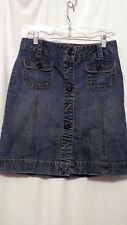 "Old Navy Women's Blue Denim Jean Mini Skirt Size 1 Waist 28"" Length 19"" EUC"