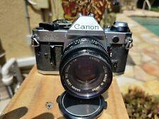 Canon AE-1 Program 35mm SLR Film Camera with Canon FD 50mm Lens