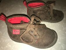 """Oshkosh B'gosh """"Ramon"""" brown suede-look textile ankle boot shoes Toddler 10 M"""