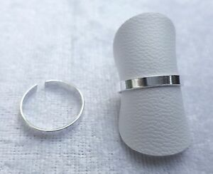 Adjustable Sterling Silver Plain Toe/Pinky/Finger Ring 925 - 170A2