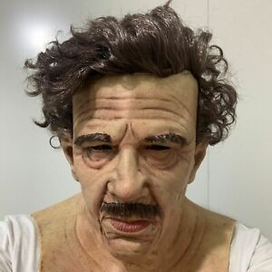 Old Man Elder Disguise Latex Mask w/Wig for Halloween Party Cosplay Costume Prop