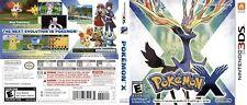Pokemon X Nintendo 3DS Ersatz Vermehrung Abdeckung Kunst Arbeit (No Spiel,No