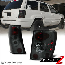 [SMOKE LEFT+RIGHT] For 99-04 JEEP Grand Cherokee Laredo Limited Tail Light LED