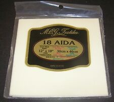 "Aida Cloth Ivory Cream Cross Stitch Embroider 12 x 18"" 18 Count Sew 100% Cotton"