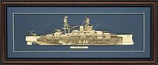 Wood Cutaway Model of USS Arizona (BB-39) - Made in the USA