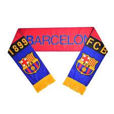 Barcelona Football Club Soccer Scarf Neckerchief Fan Souvenir Real Madrid Bid