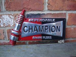 Champion sign spark plug Sign champion cast aluminium discontinued VAC148