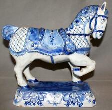 "Antique Dutch Delft Figure of a Horse by The Greek De Grieskse ""A"""