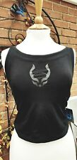 CYBERDOG BLACK PARASITE CLUBBING VEST TOP  ONE SIZE RAVE PARTY GOTH STRAPPY BNWT