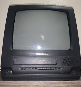 "Panasonic 4 Head Omnivision 13"" TV/VCR Combo VHS PV-M1369 Retro Gaming W/ Remote"