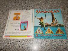 ALBUM figurine SANDOKAN PANINI 1976 COMPLETO MB/OTTIMO ORIGINALE NO CALCIATORI