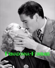 "ANITA LOUISE & ERROL FLYNN 8X10 Lab Photo 1937 ""GREEN LIGHT"" Romantic Portrait"