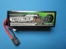 TURNIGY NANO-TECH 10000mAh 2S 7.4V 30C 60C LIPO BATTERY TRAXXAS SLASH XO-1 RALLY