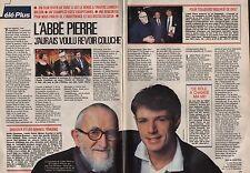 Coupure de presse Clipping 1989 L'Abbé Pierre Lambert Wilson  (2 pages)