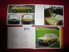 N°4879 /  dépliant en français  AUSTIN Allegro 1500 4 DR.SDL british leyland