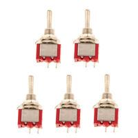 5pcs On/Off Sub Miniature Small Mini Electrical Toggle Switch SPST 2 Pin