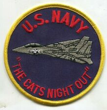 "Patch F-14 U.S. Navy ""The Cats Night Out"" 4-Inch Size"