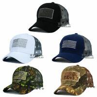 USA American Flag hat Tactical Operator Mesh Snapback Baseball cap- Flag Mesh