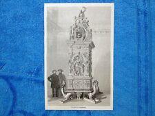 Gravure Année 1862 - Poele à Augsbourg (Allemagne) - Stufa ad Augusta (Germania)