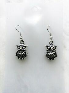 Wise Owl Earrings Spirit Animal Totem Celtic Native American Astrology