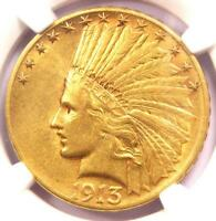 1913-S Indian Gold Eagle $10 Coin - Certified NGC AU55 - $2,100 Value!