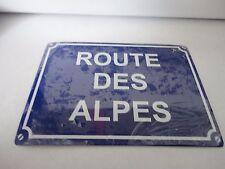 """PLAQUE ÉMAILLÉE """" ROUTE DES ALPES """" 20 x 14,5 cm (1.741)"""