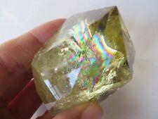 A NATURAL Citrine Quartz Crystal Point Healing W Rainbows 156g