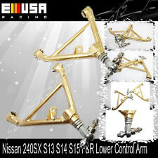 For 240SX 1989-1994 S13 1995-1998 S14 Rear Adj. Lower Control Arms GOLD