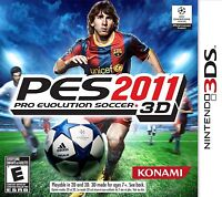 PES Pro Evolution Soccer 2011 [Nintendo 3DS, NTSC, Sports Football Goal] NEW