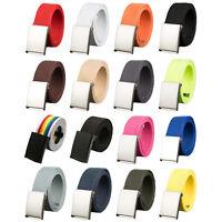 Unisex Canvas Webbed Belt, Metal Buckle, For Men or Women
