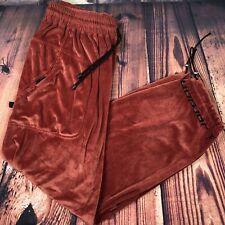VTG 90s Mens Nike Jordan Velour Track Pants XL Air Jumpman Warm Up Blood Orange