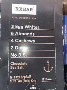 RX BAR Whole Food Protein Bar 1.83 oz ~ 72 CHOCOLATE SEA SALT ~ GLUTEN FREE