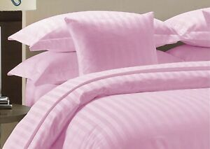 UK Bedding Collection 1000 TC Quality 100% Egyptian Cotton Pink Striped