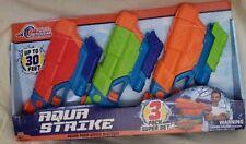 Tidal Storm Aqua Strike Power Pump Water Blasters 3 Pack Super Set Ages 6+ Gift