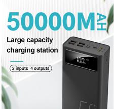 50000mAh Large Capacity Power Bank 2.1A Fast Charging LED Dsply Portable Charger