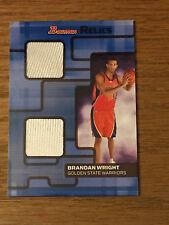 2007 Bowman BRANDAN WRIGHT Dual Game Used Jersey Basketball Card - #1 of 25