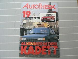AUTOTHEEK 1985 NO 19 SPECIAL ISSUE ABOUT OPEL KADETT GSI,GLS,POLITIE,FEYENOORD