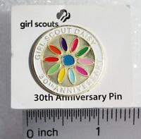"""Girl Scouts """"Daisy 30th Anniversary Pin"""" Enamel/Metal - NEW - DISCONTINUED RARE"""