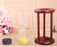 New Wood Glass Clock Hourglass Timer Decor,Empty,put your wedding ceremony sand