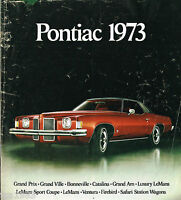 1973 PONTIAC Full Line Brochure: Trans-Am,GTO,Grand Am,
