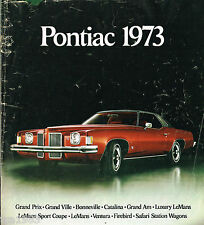 1973 PONTIAC Full Line Brochure: Trans-Am,GTO,Grand Am,