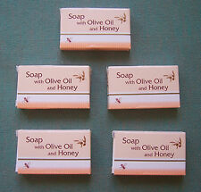 5  OLIVE OIL SOAPS WITH HONEY (5X17gr) TRADITIONAL MADE FROM CHANIA CRETA
