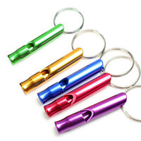 10pcs Aluminum Emergency Survival Safety Whistle for Camping Hiking Outdoor Tool