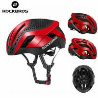 ROCKBROS MTB Road Bike Cycling Helmet 57cm-62cm EPS Integrally Helmet 3 in 1 Red