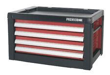 PREMIER SEALEY BALL BEARING TOOLBOX TOP BOX 4 DRAWER RED SILVER