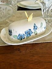 Lenox Butterfly Meadow Covered Butter Dish