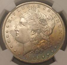 1896 Morgan Dollar Rainbow Toned NGC MS-65, Buy 3 Get $5 Off!! R6296